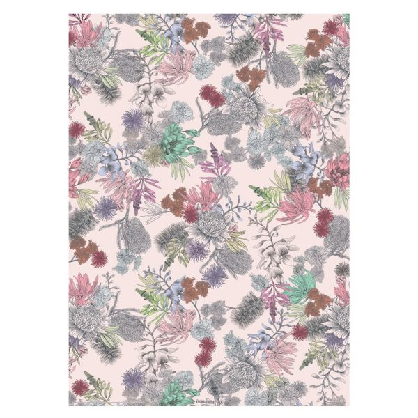 Gift Wrap Sheet Native Floral
