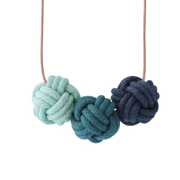 Helsinki nautical knot necklace