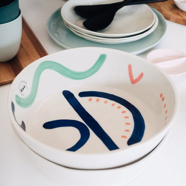 Kaz Ceramics Salad Bowl
