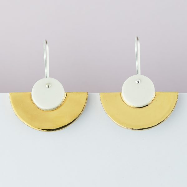 Erin Lightfoot White Crescents Earrings