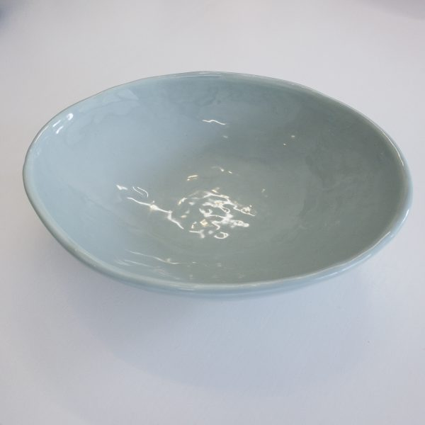 Batch# Ceramics Oval Sharing Bowl Ghost Gum